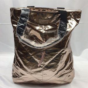 NWT Victoria's Secret large rose gold bag